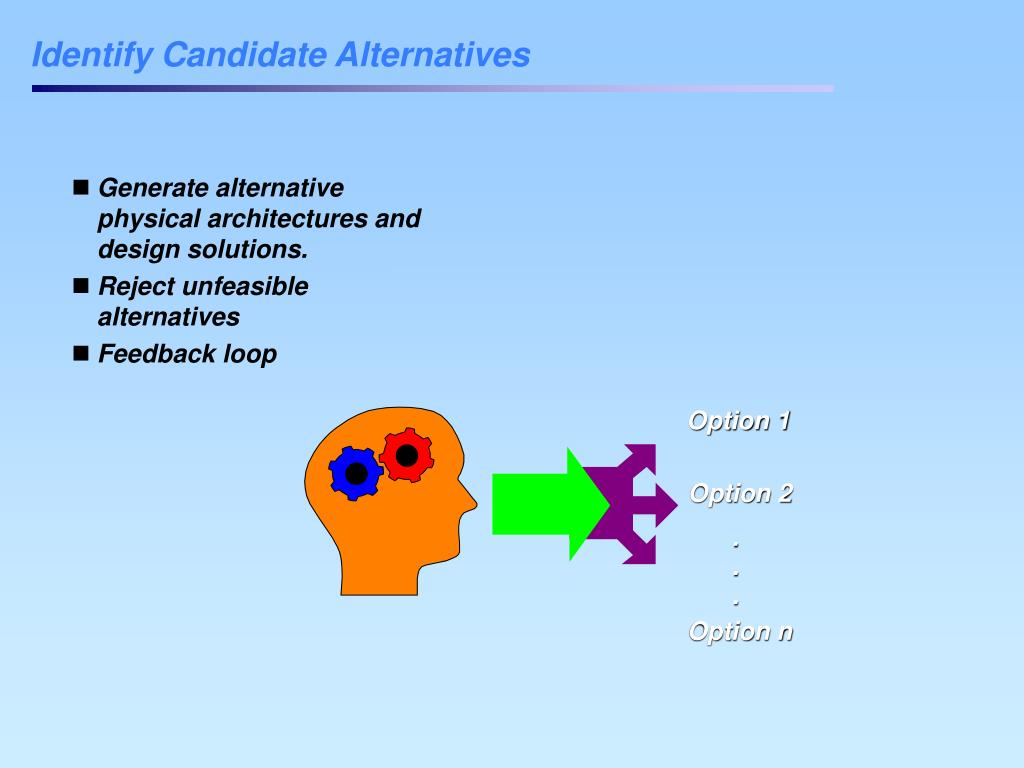 Identify Candidate Alternatives