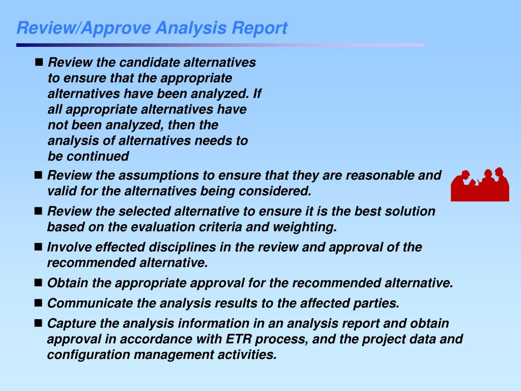 Review/Approve Analysis Report