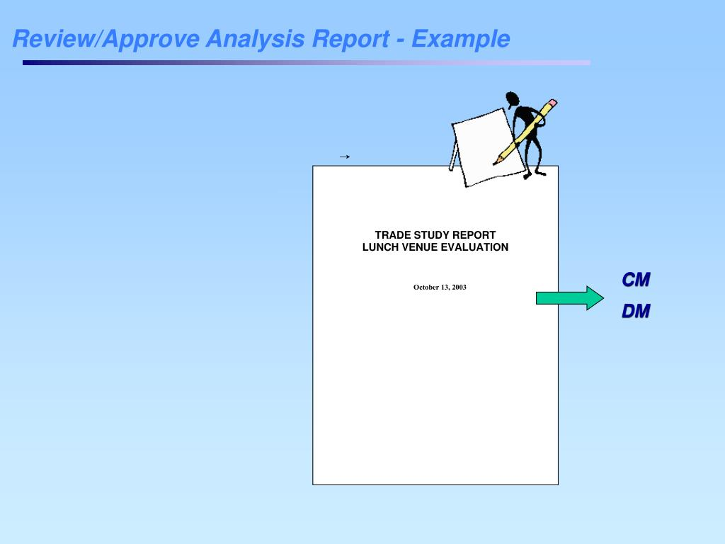 Review/Approve Analysis Report - Example