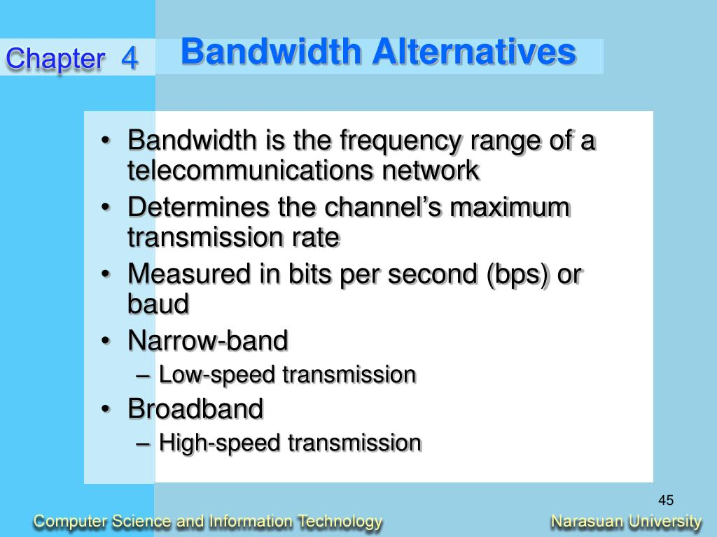 Bandwidth Alternatives