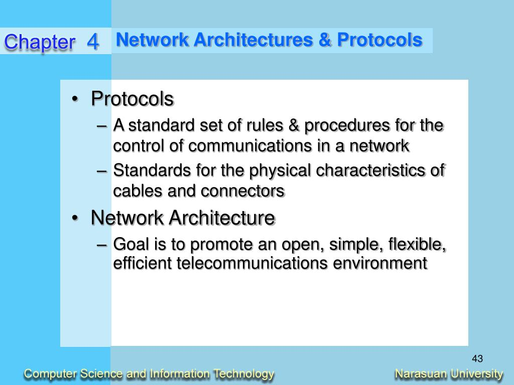 Network Architectures & Protocols