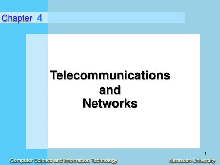 Telecommunications and networks l.jpg