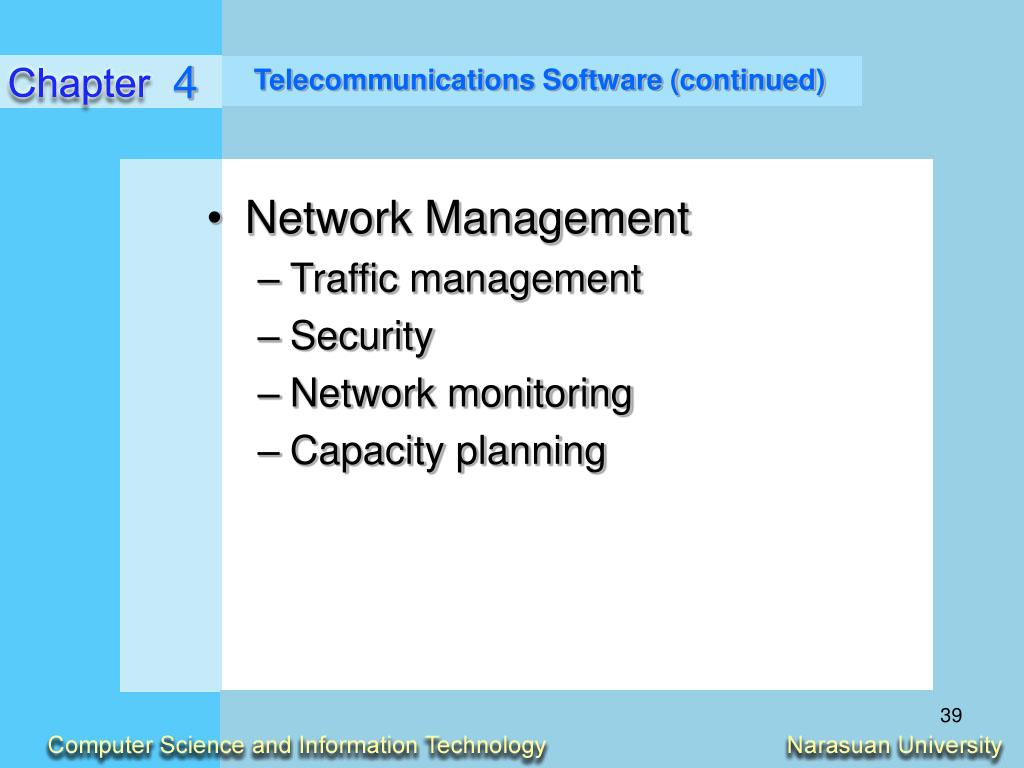 Telecommunications Software (continued)