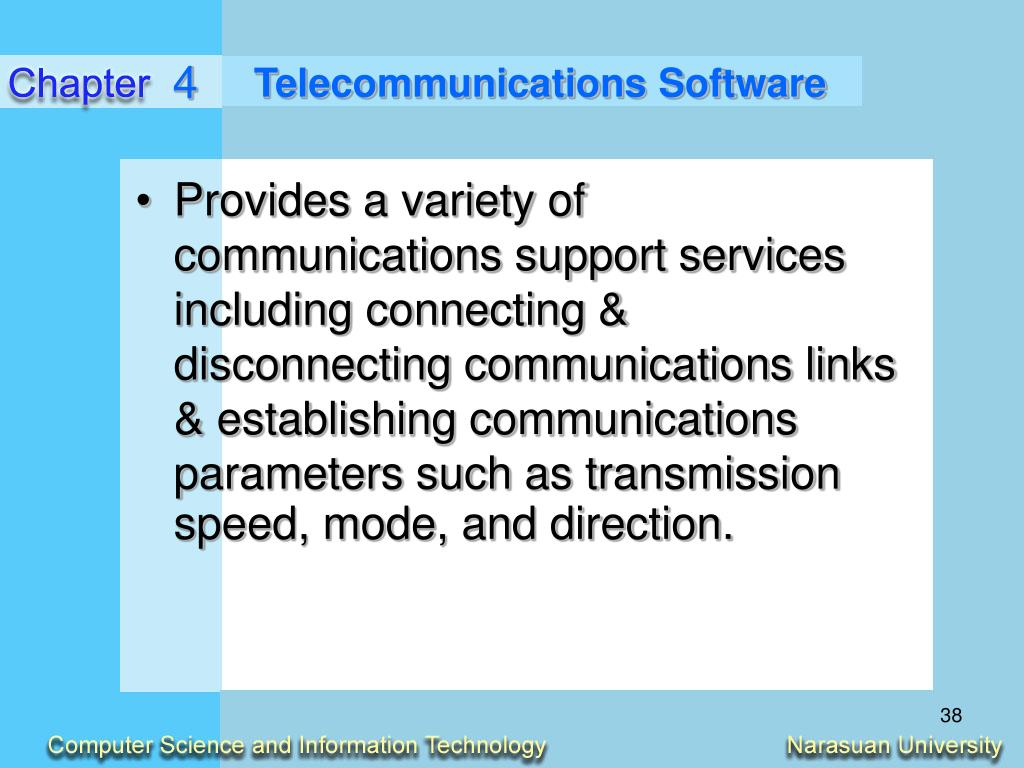 Telecommunications Software