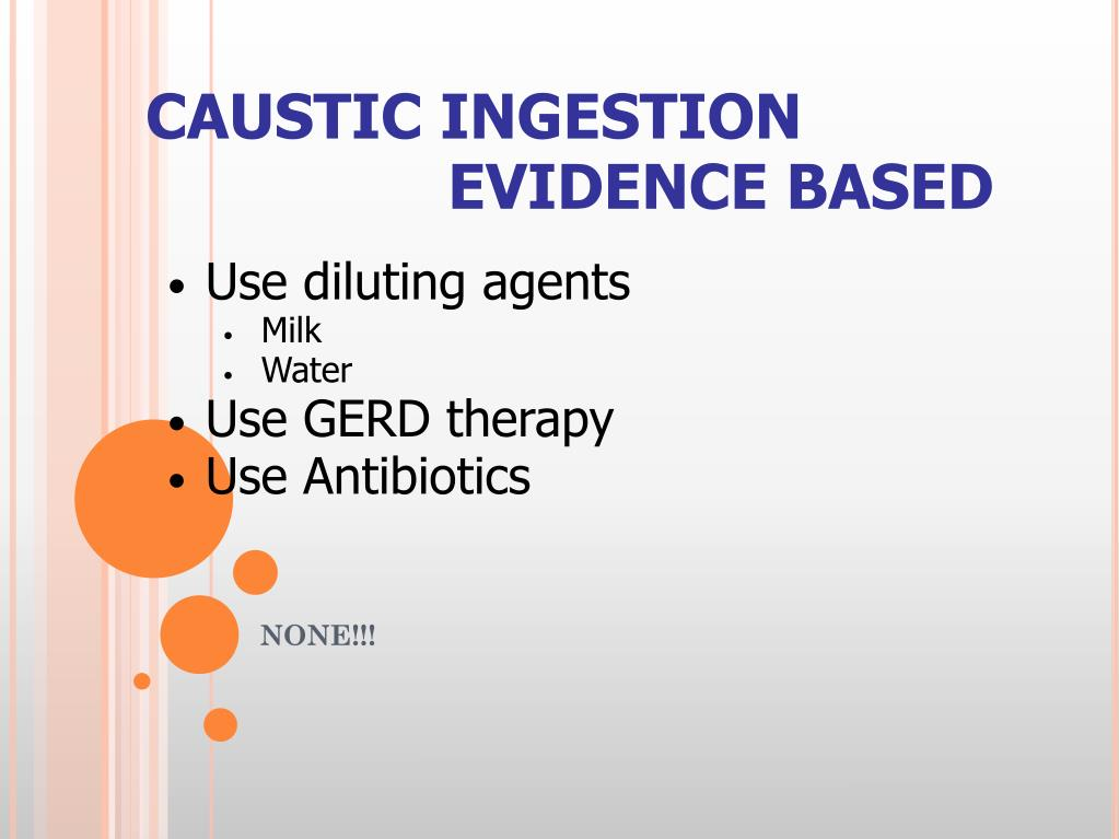 CAUSTIC INGESTION
