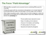 the force field advantage