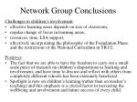network group conclusions