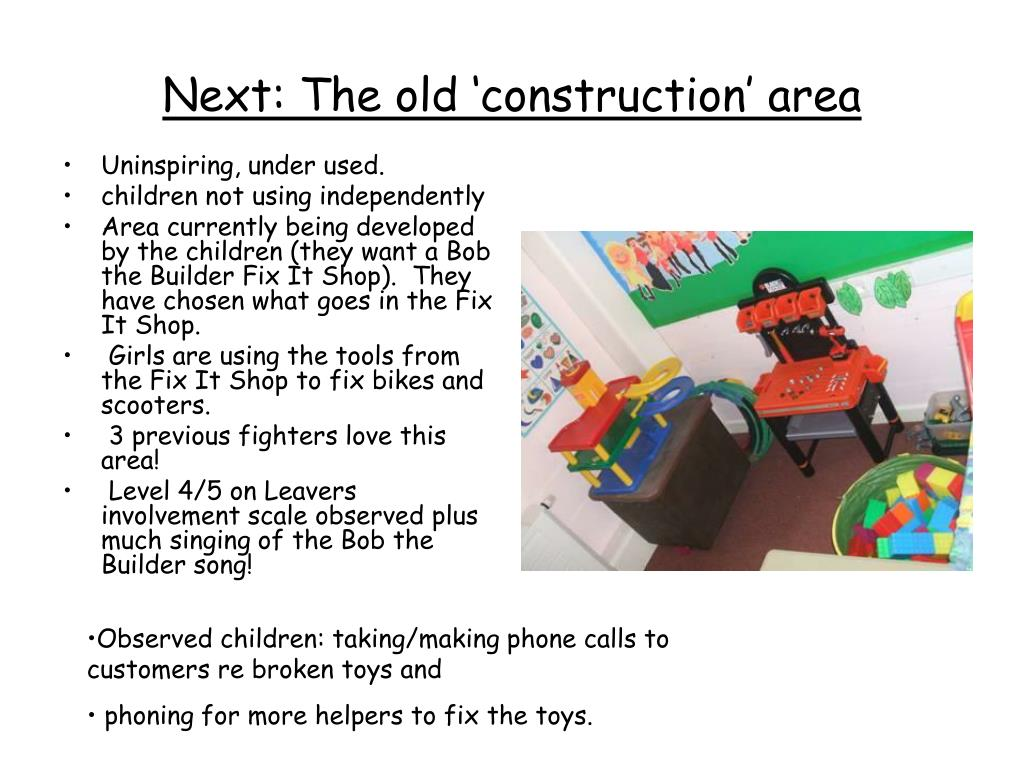Next: The old 'construction' area