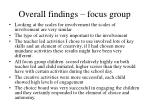 overall findings focus group31