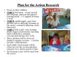 plan for the action research