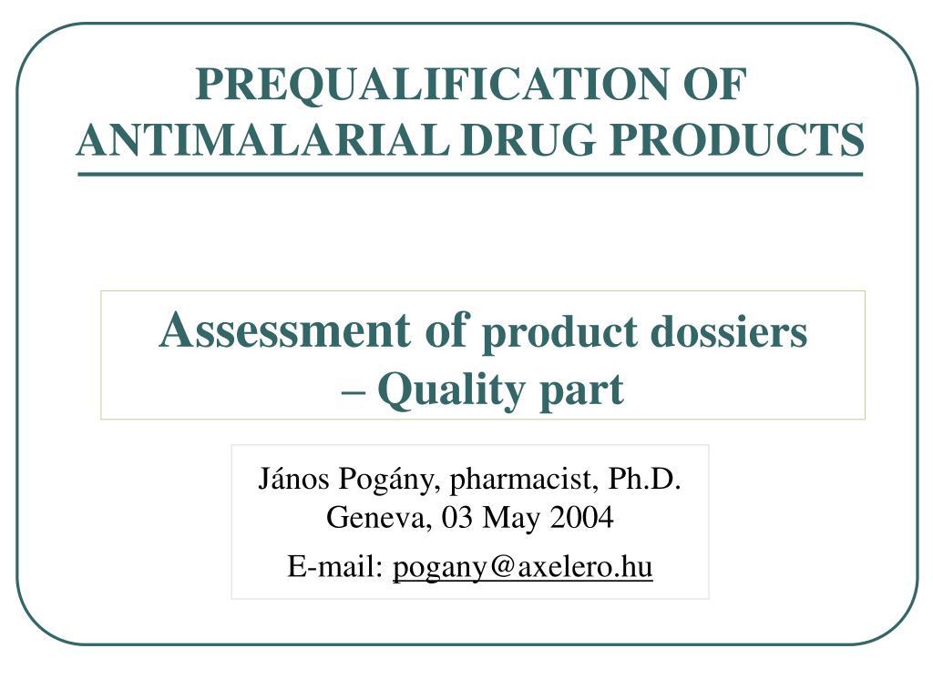 János Pogány, pharmacist, Ph.D.