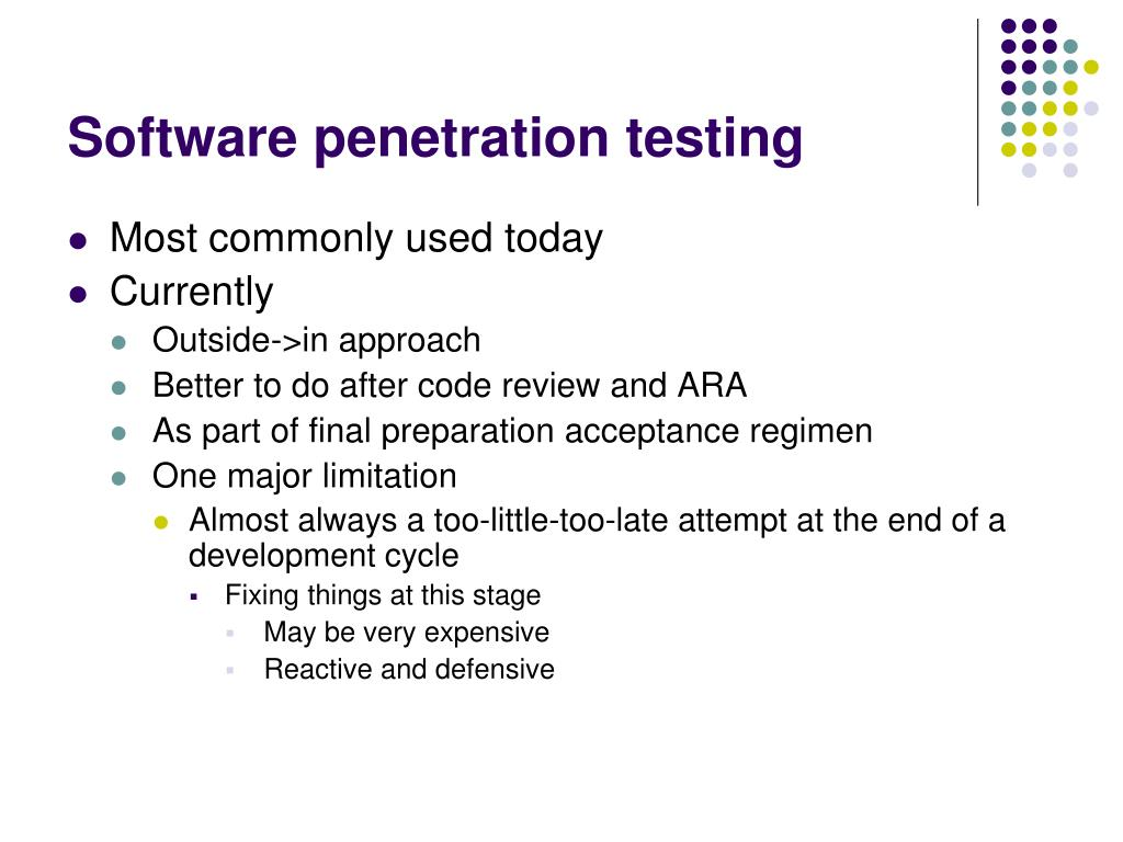 Software penetration testing