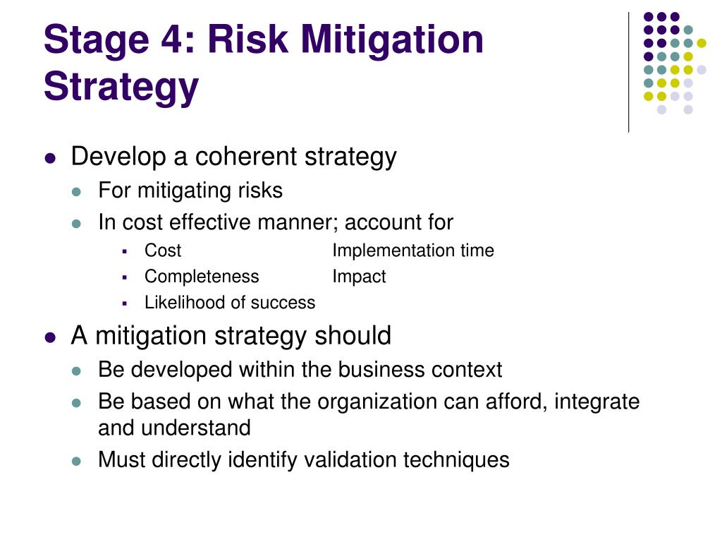 Stage 4: Risk Mitigation Strategy
