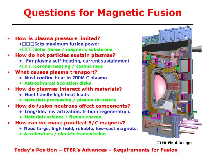 Questions for magnetic fusion l.jpg