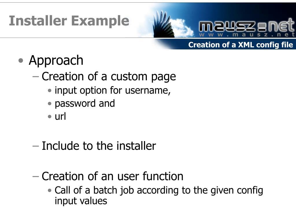 Installer Example