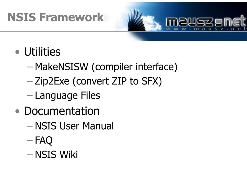 NSIS Framework