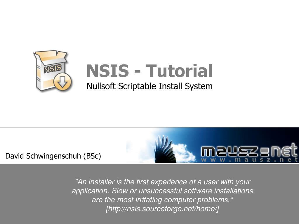 NSIS - Tutorial