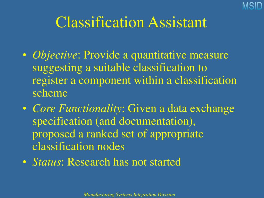 Classification Assistant
