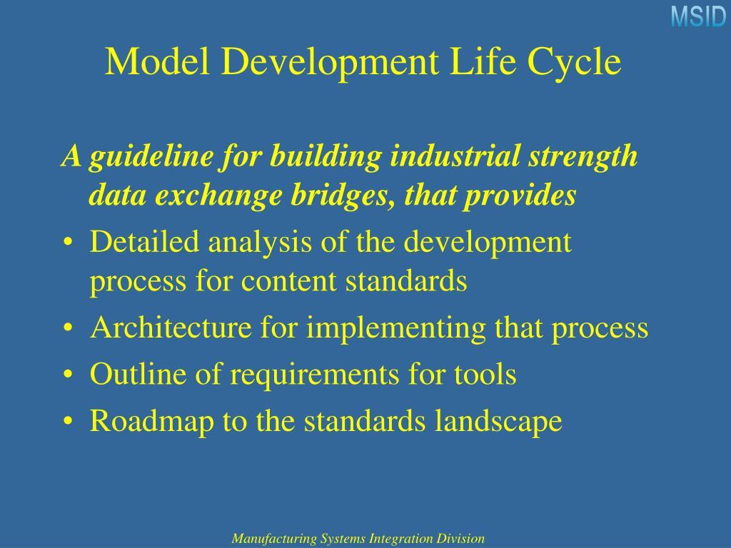 Model Development Life Cycle