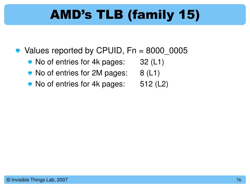 AMD's TLB (family 15)