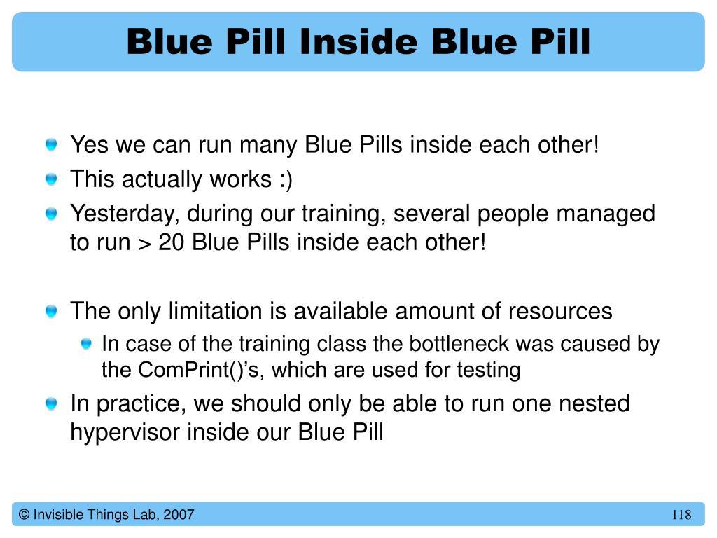 Blue Pill Inside Blue Pill