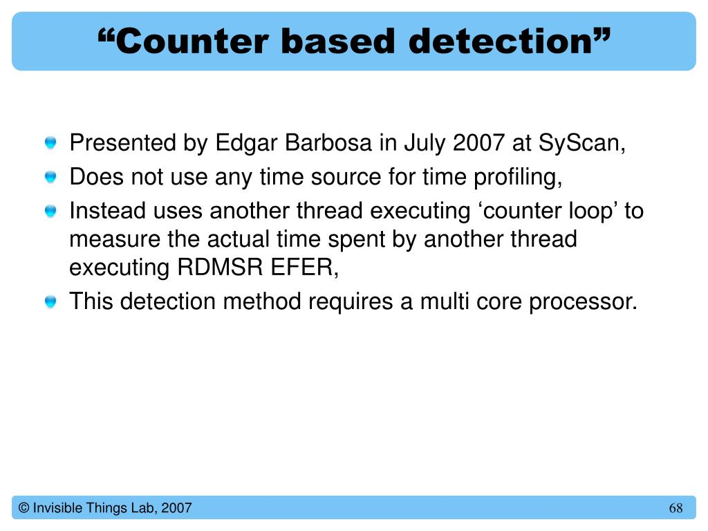 """Counter based detection"""