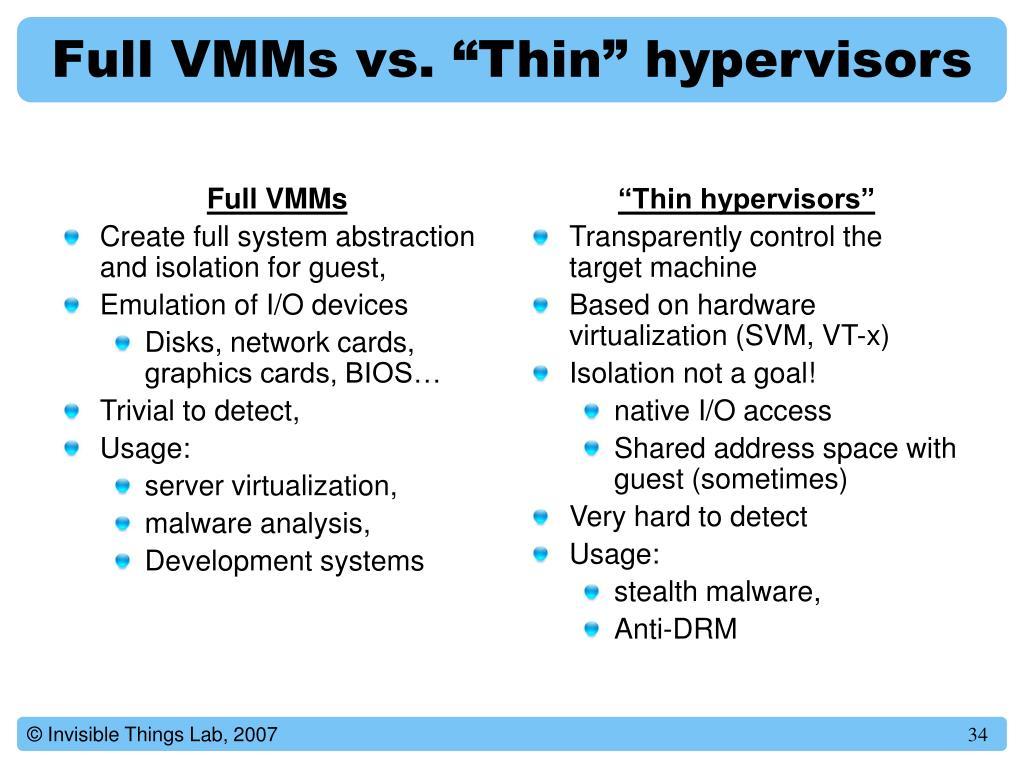 Full VMMs