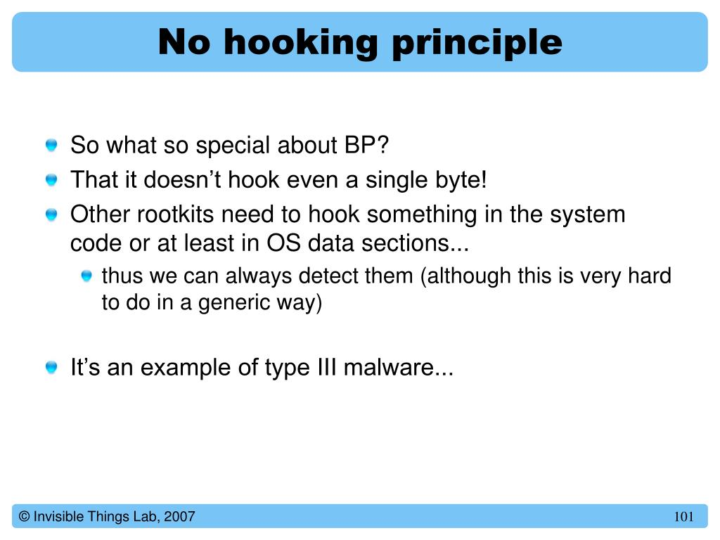 No hooking principle