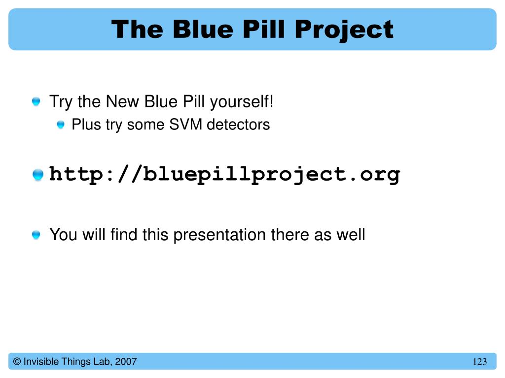 The Blue Pill Project