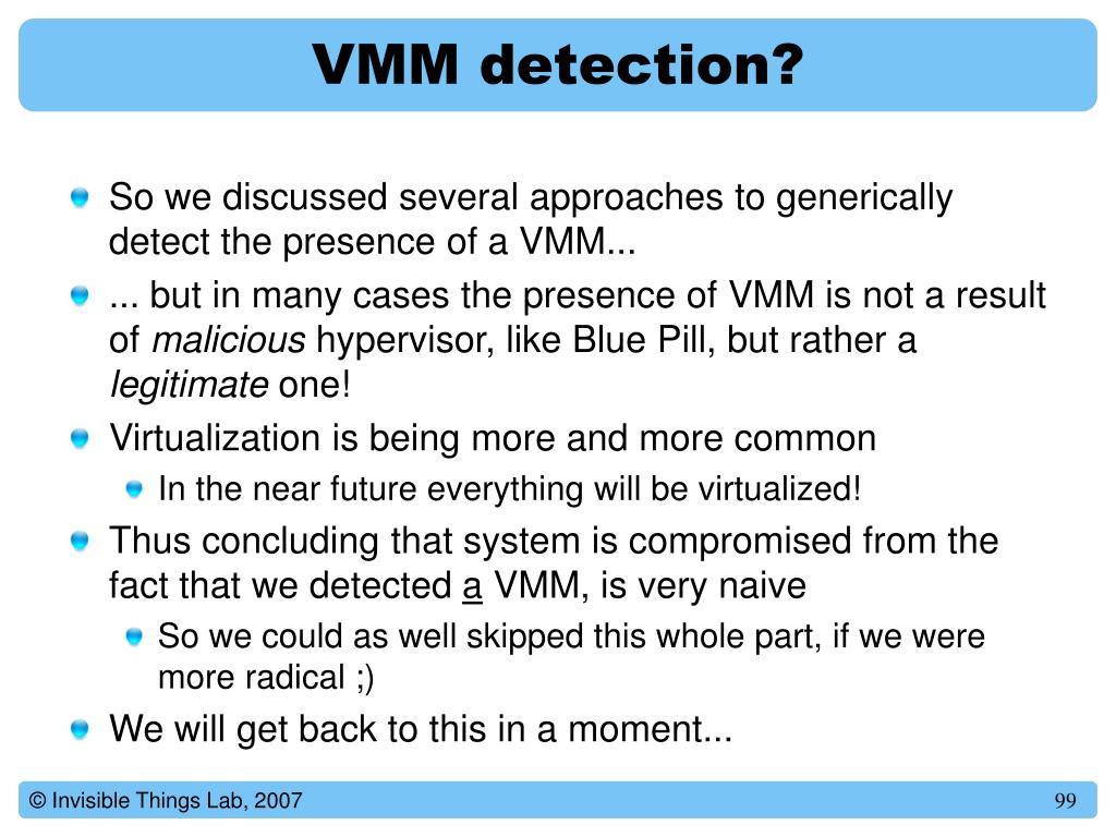 VMM detection?