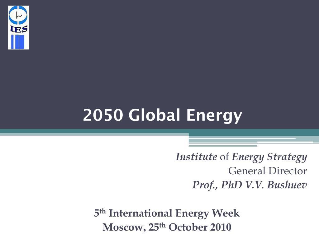 2050 global energy