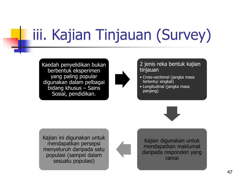 iii. Kajian Tinjauan (Survey)