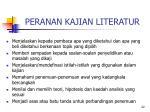 peranan kajian literatur