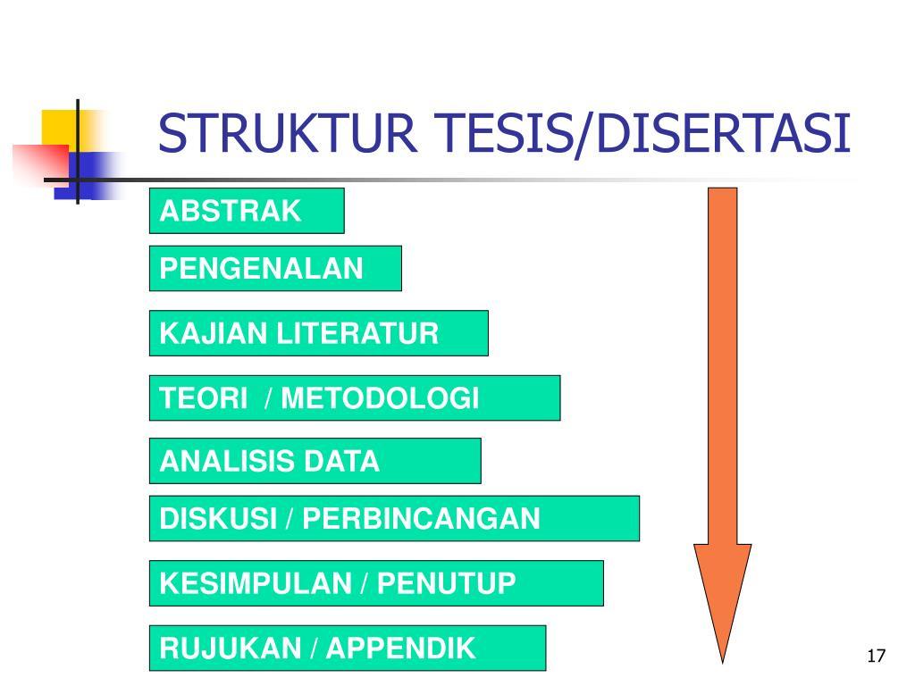 STRUKTUR TESIS/DISERTASI