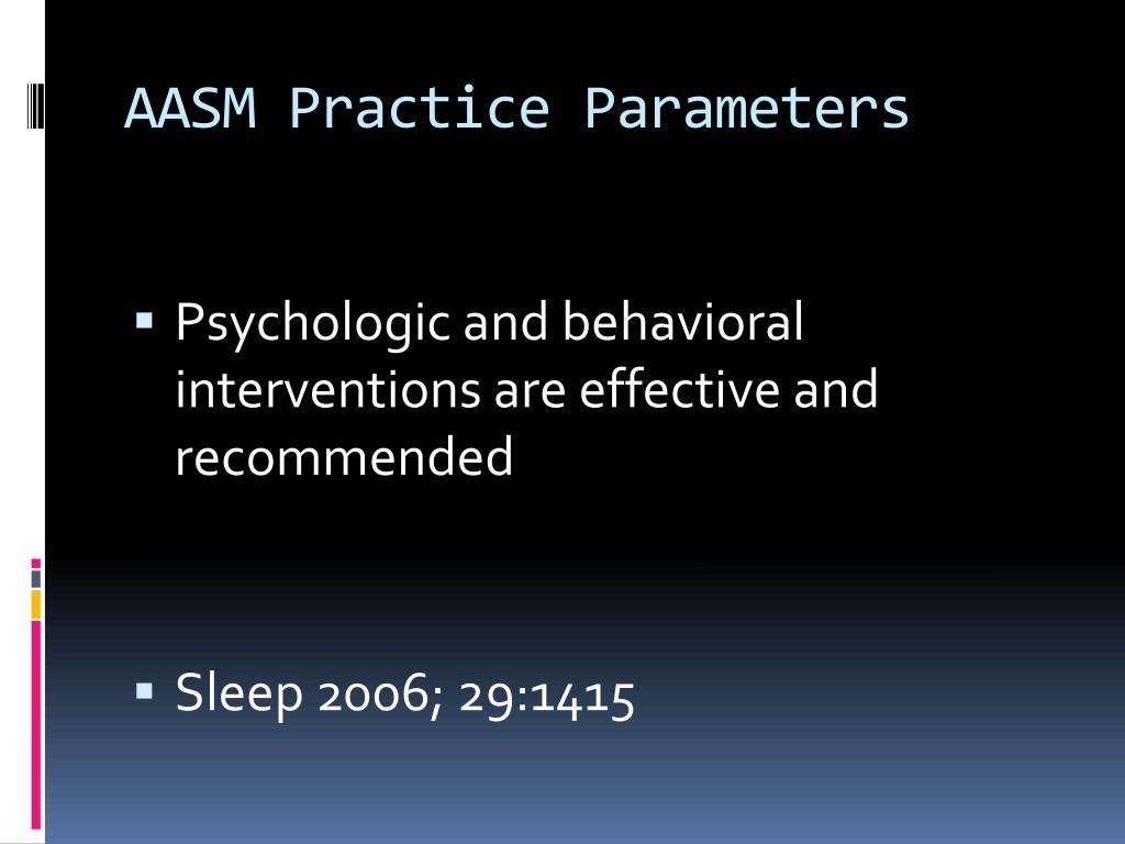 AASM Practice Parameters