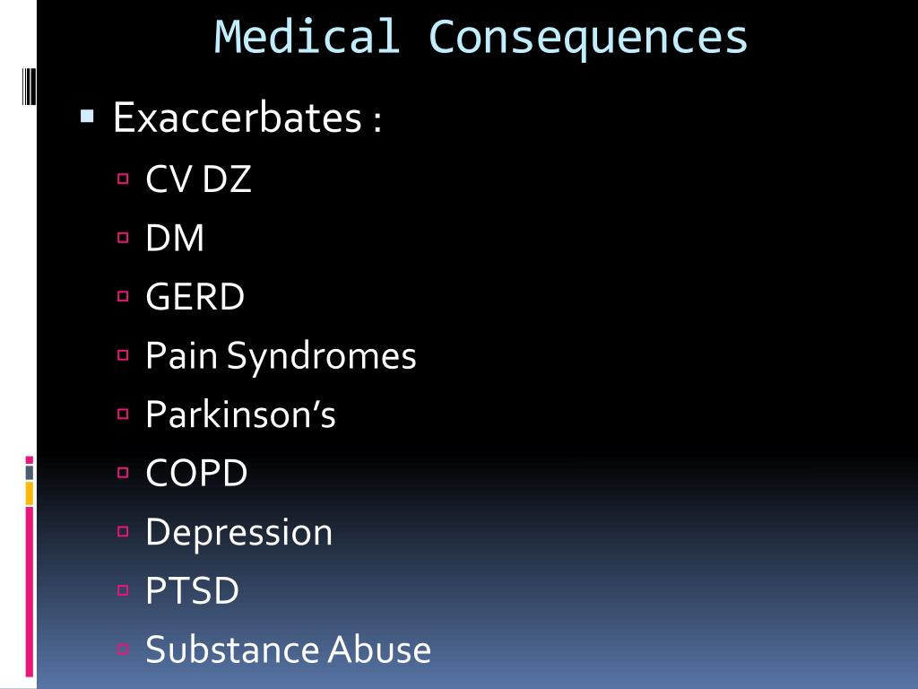 Medical Consequences