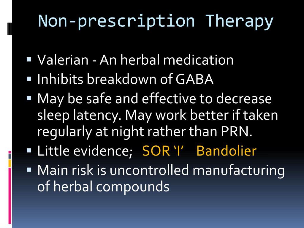 Non-prescription Therapy