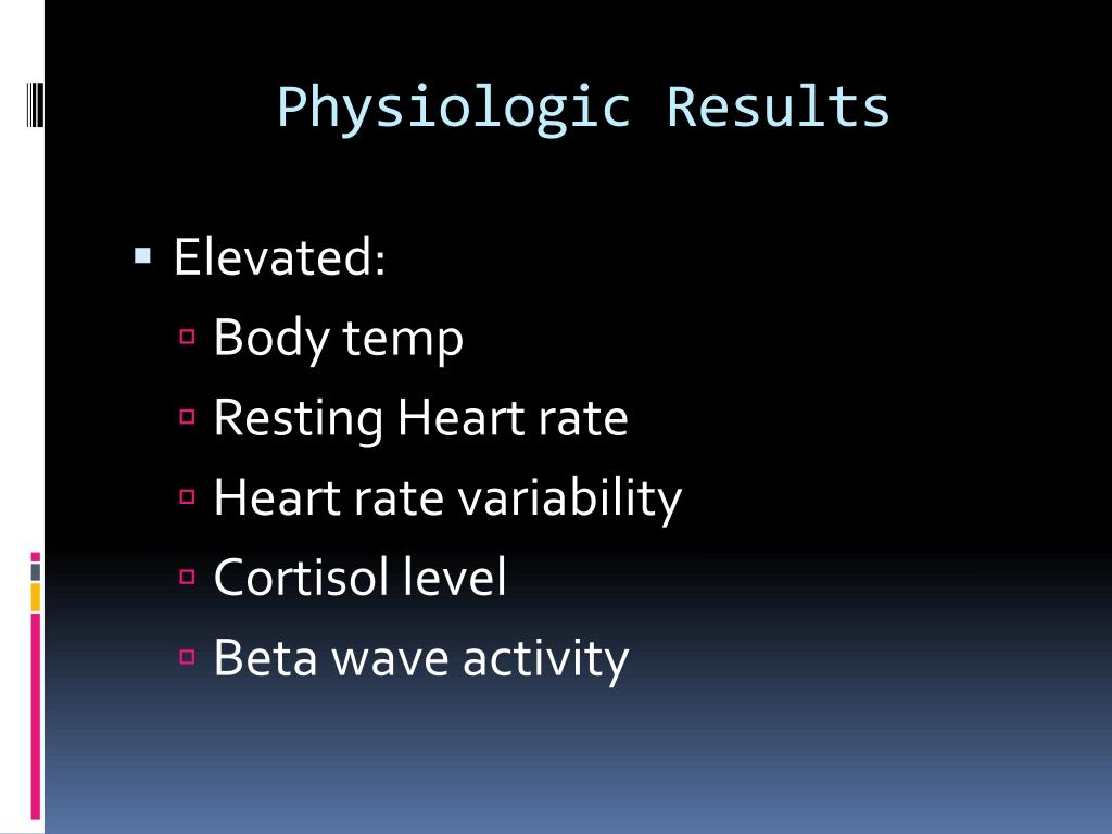 Physiologic Results
