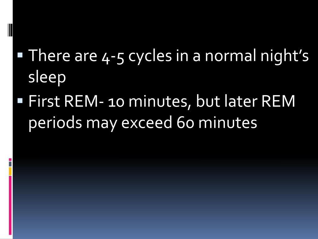 There are 4-5 cycles in a normal night's sleep