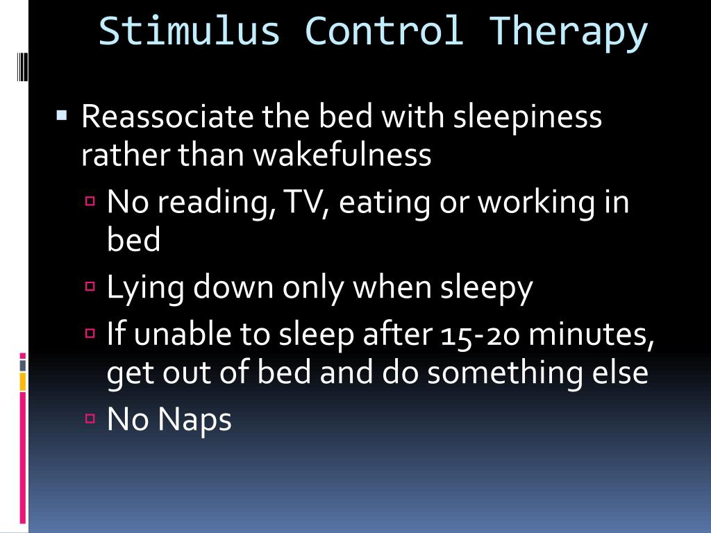 Stimulus Control Therapy