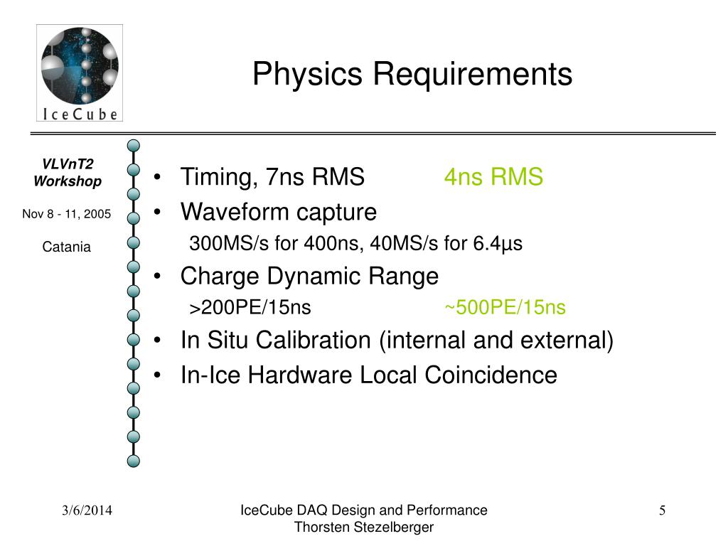 Physics Requirements