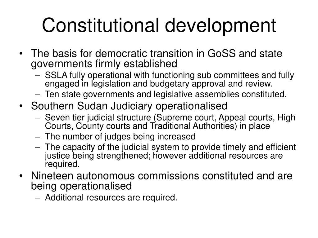 Constitutional development
