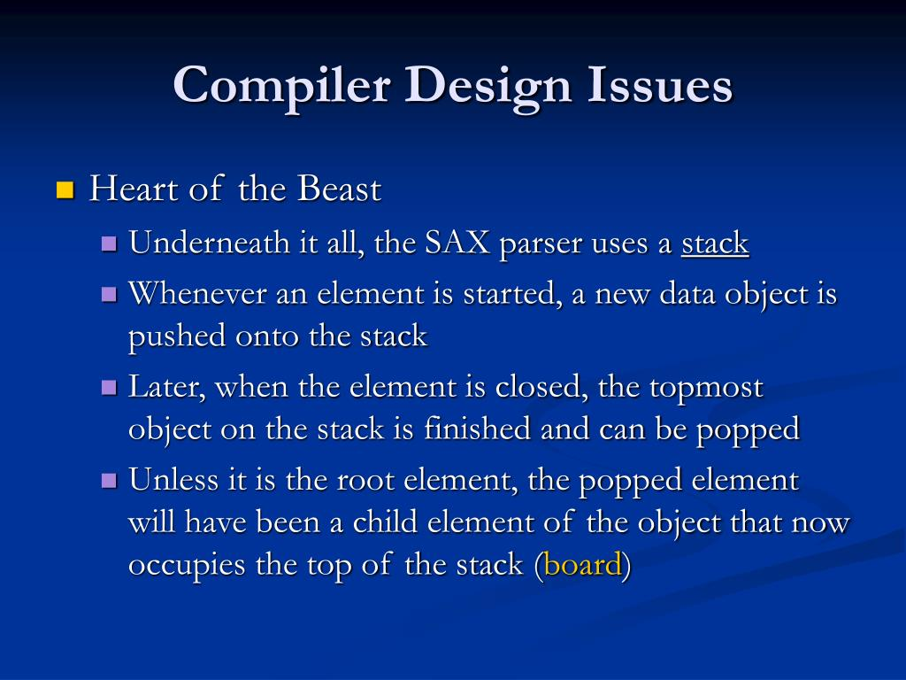 Compiler Design Issues