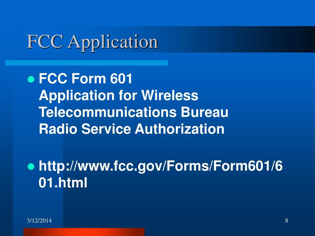 FCC Application