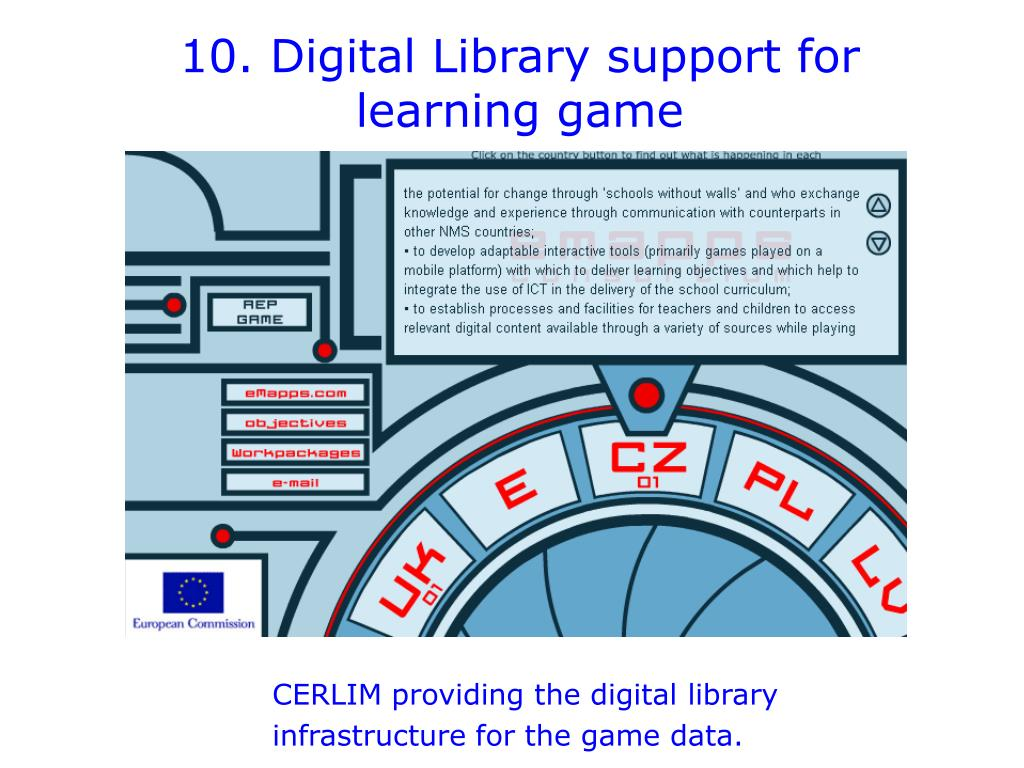 10. Digital Library support for learning game