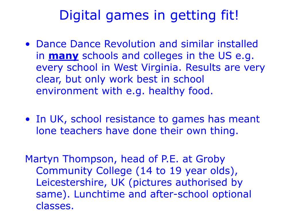 Digital games in getting fit!