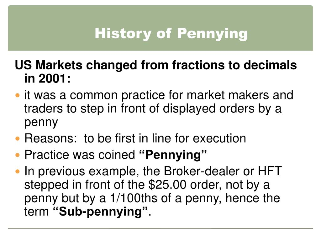 History of Pennying