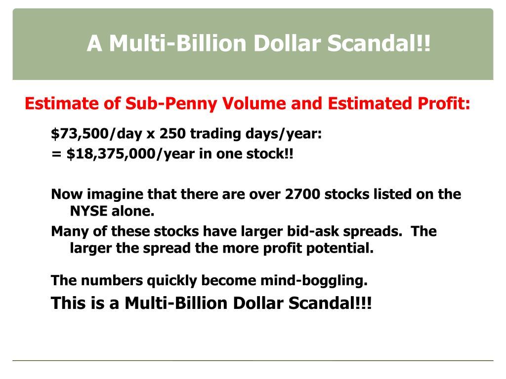 A Multi-Billion Dollar Scandal!!