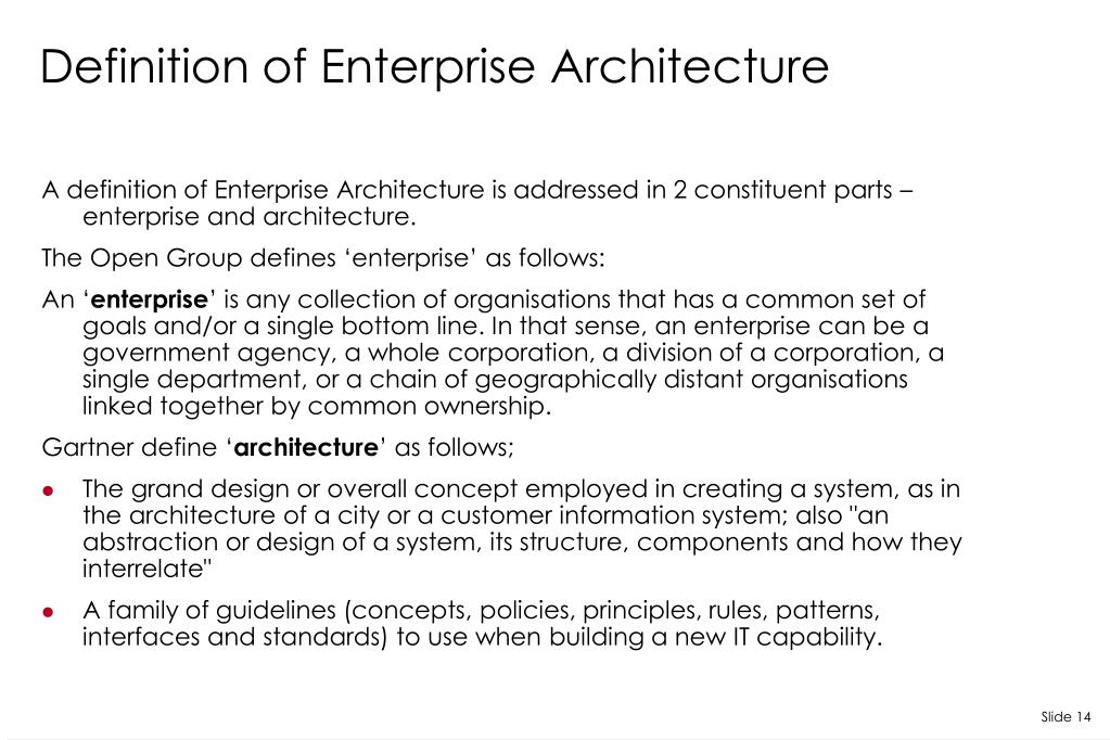 Ppt enterprise architecture powerpoint presentation id for Enterprise architecture definition
