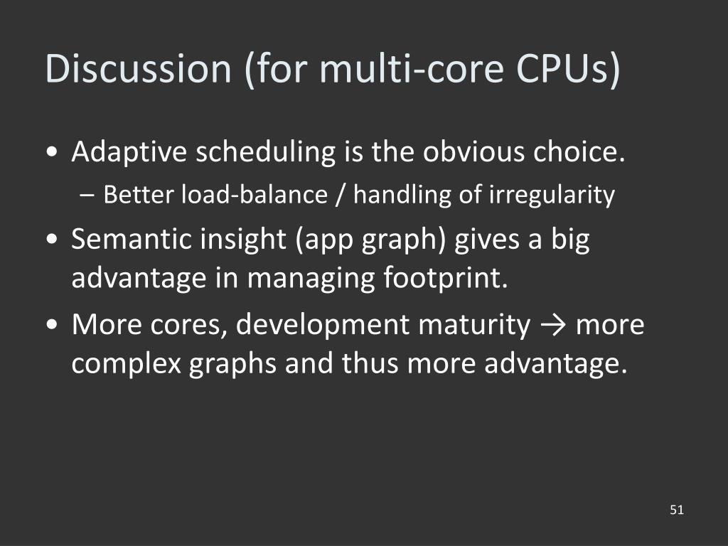 Discussion (for multi-core CPUs)